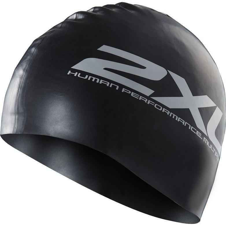Produktbild von 2XU Silicone Swim Cap Schwimmkappe - black/silver