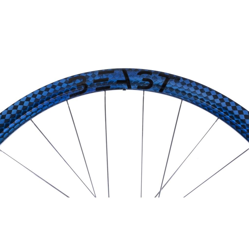 Image of Beast Components RR40 Carbon Disc Clincher Rim - 20-622 - 24 Hole - SQUARE blue