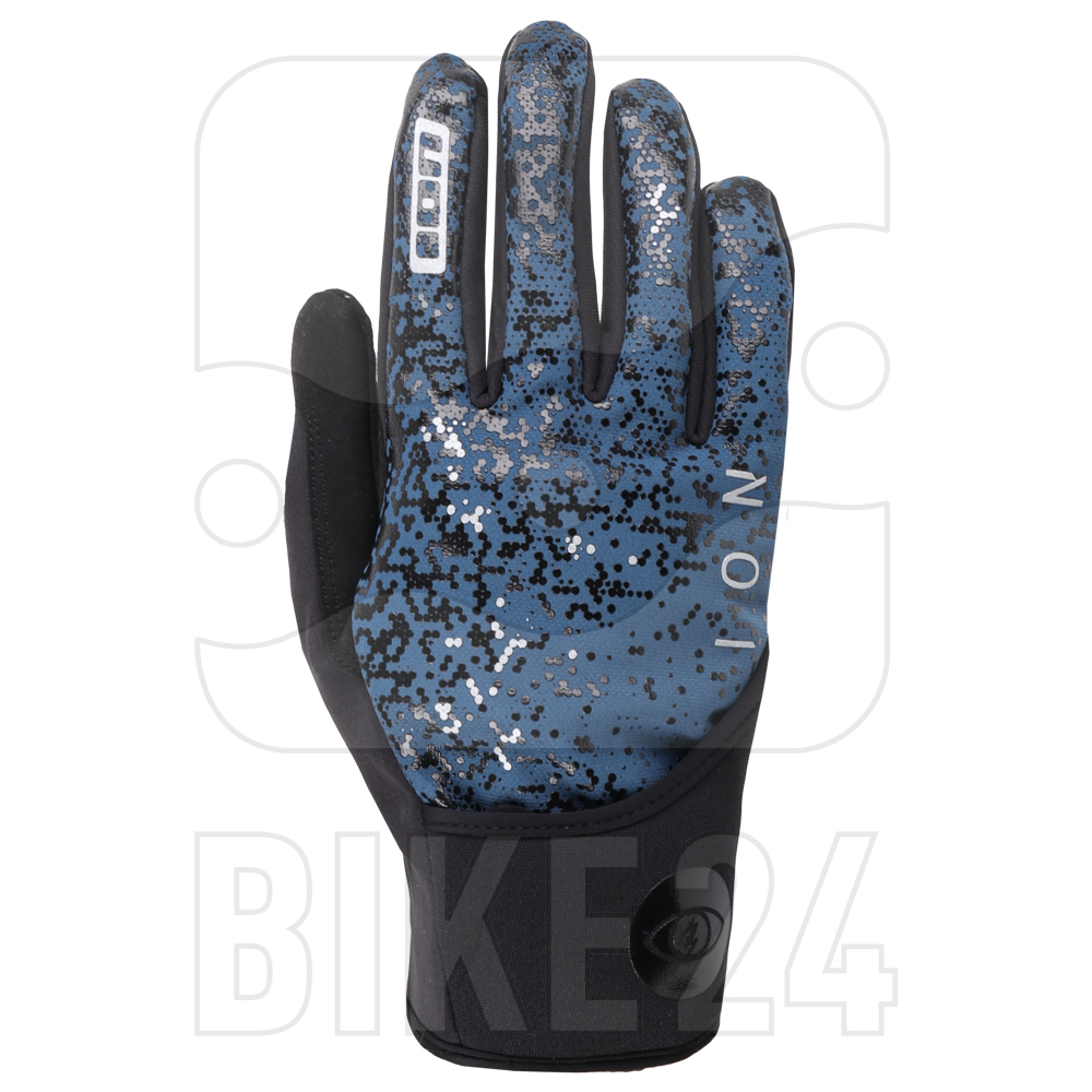 Image of ION Bike Gloves Haze Amp - Ocean Blue