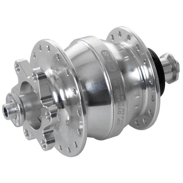 Image of Shutter Precision PD-8 Hub Dynamo - 6-Bolt - QR 9x100mm - silver