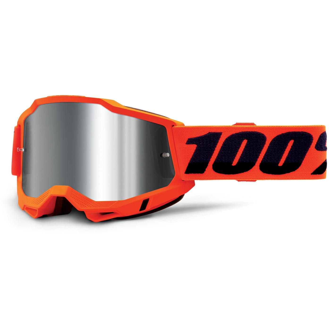 100% Accuri 2 Goggle Mirror Lens Gafas - Neon Orange