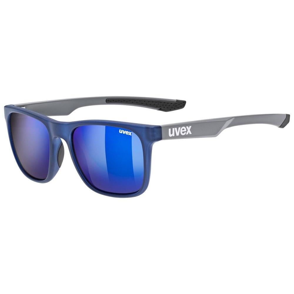 Uvex lgl 42 Glasses - black grey mat/mirror blue