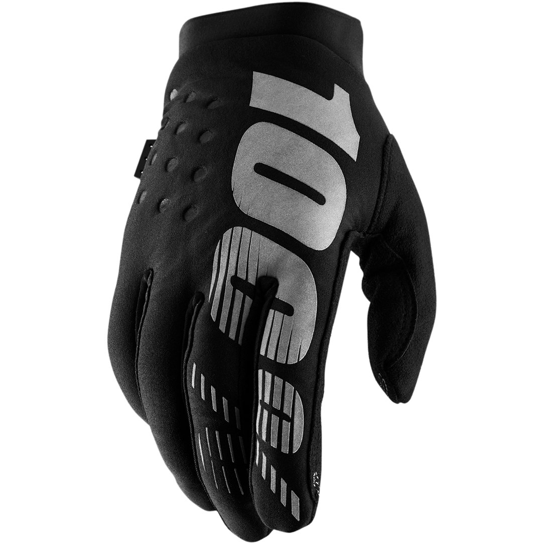 100% Brisker Cold Weather Youth Guantes - negro/grey
