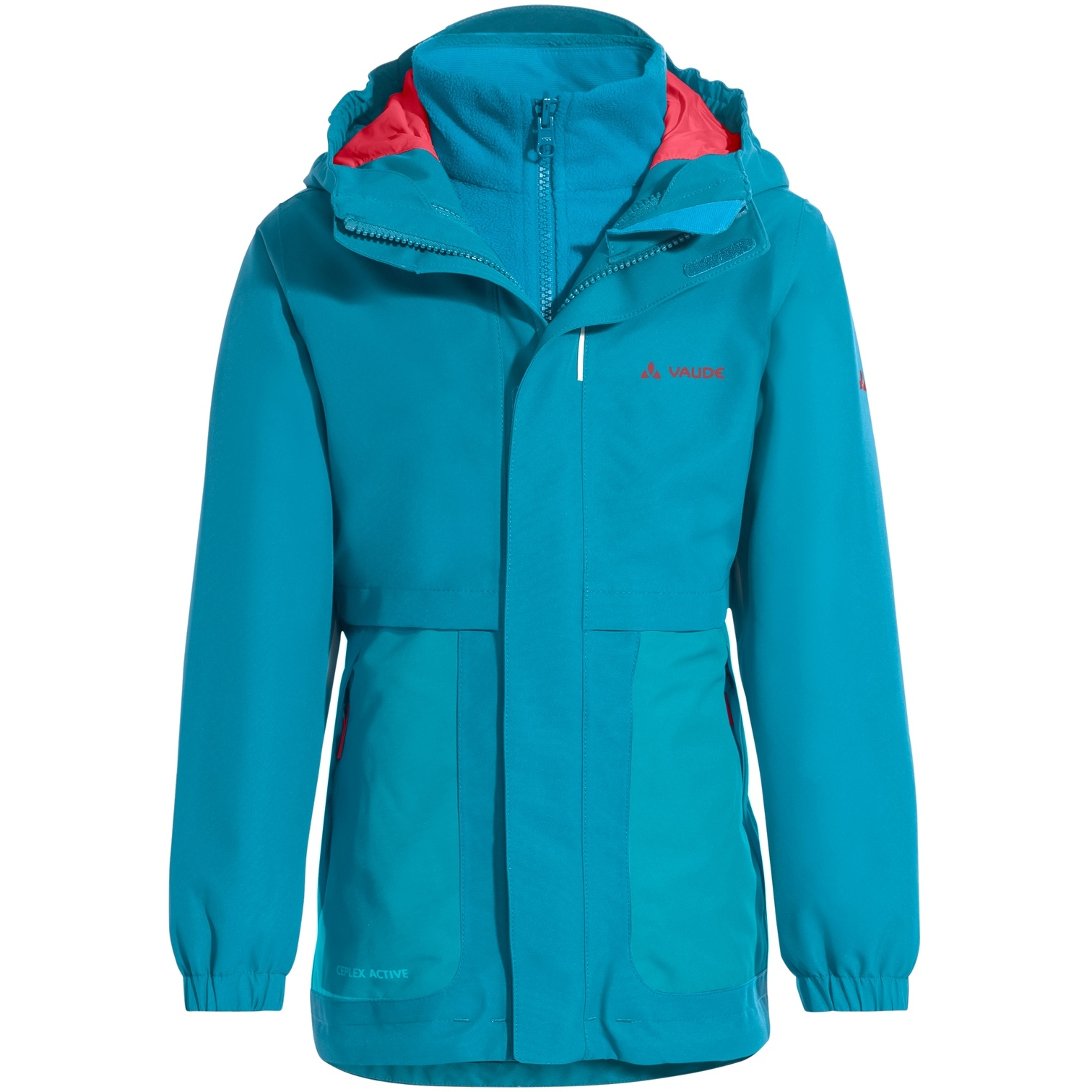 Vaude Kids Campfire 3in1 Jacket Girls - arctic blue