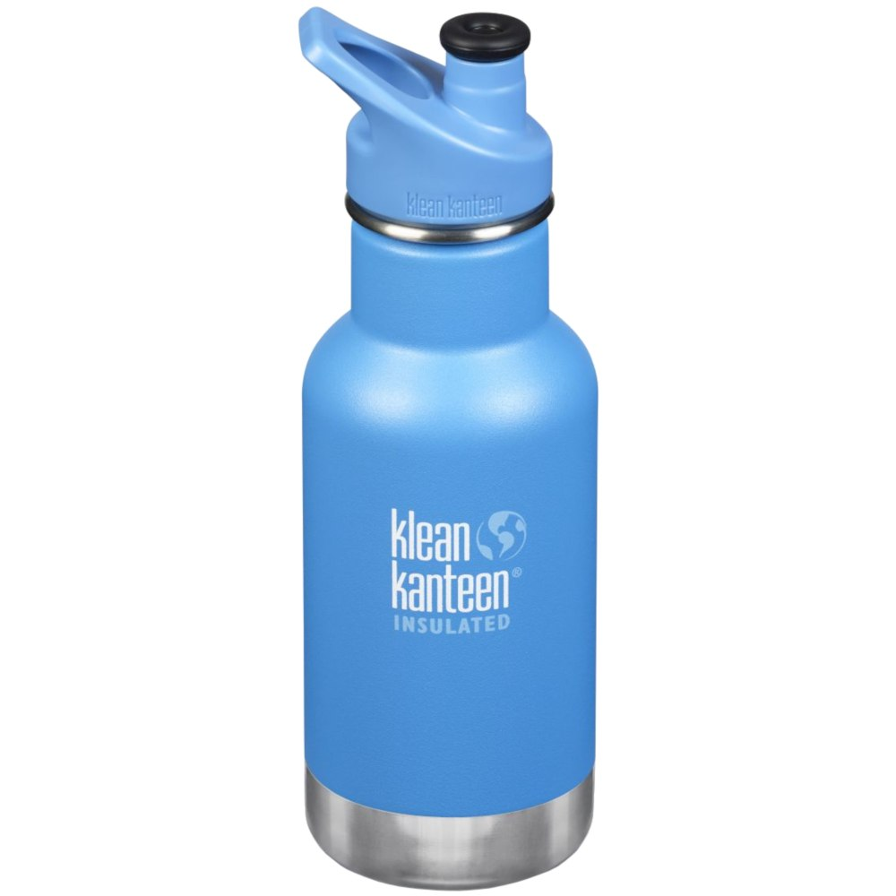 Klean Kanteen 355ml Kid Classic Vacuum Insulated Bottle - with Sport Cap 3.0 - pool party (matte)
