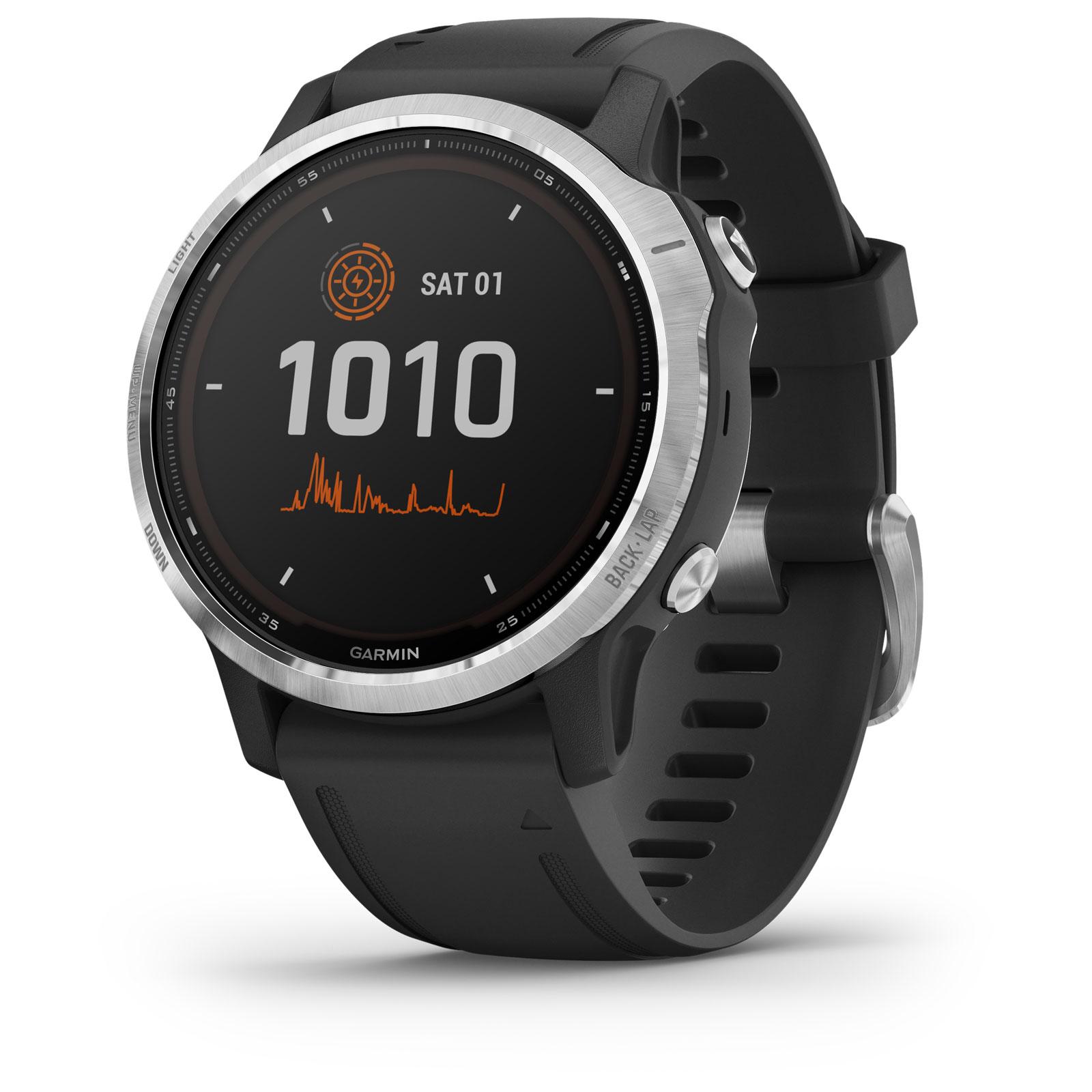 Garmin fenix 6s Solar GPS Smartwatch - schwarz/silber