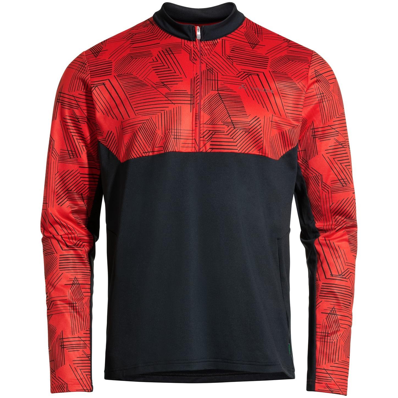 Vaude Men's Virt QZip LS T-Shirt - mars red