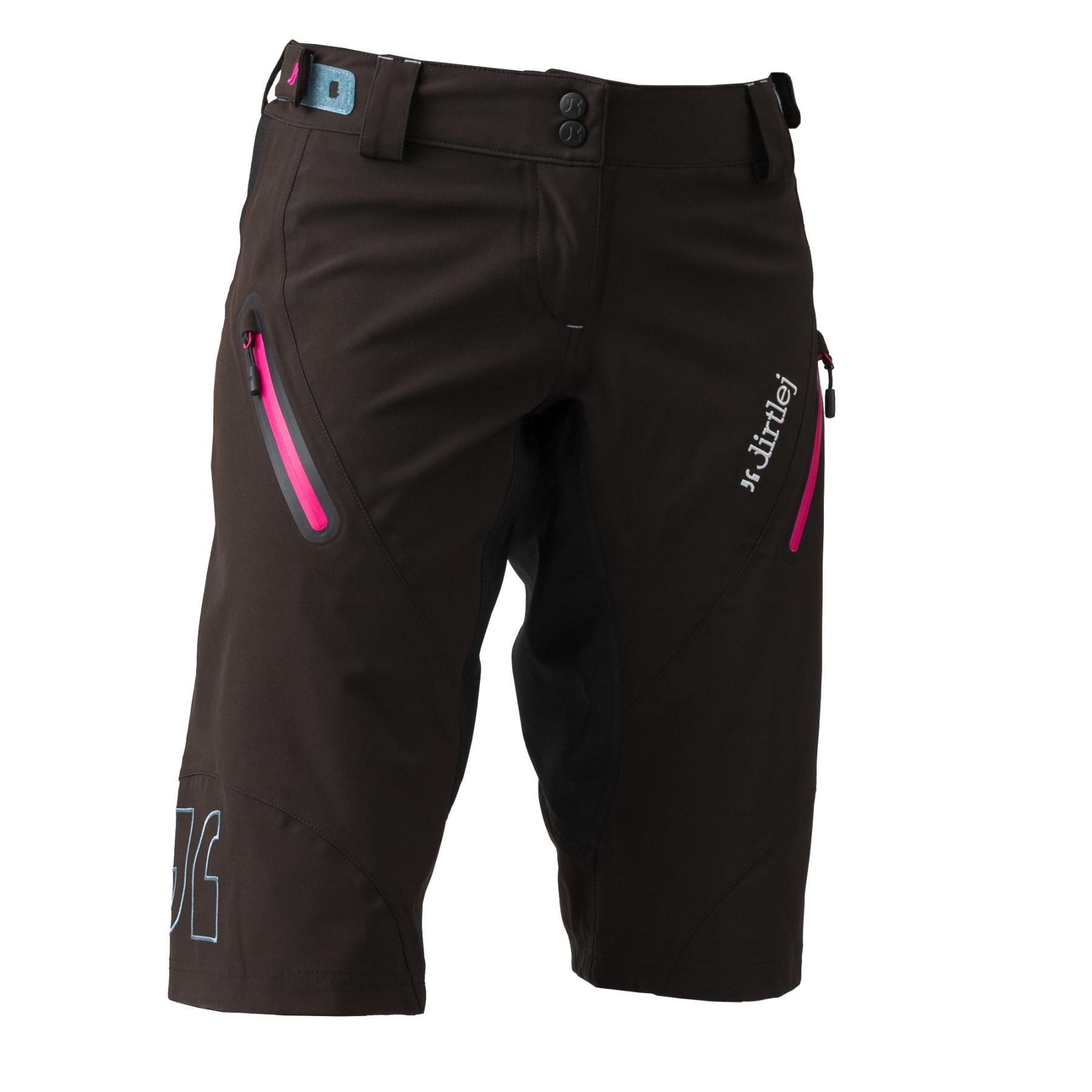 Foto de Dirtlej Trailscout Waterproof Pantalones para mujer - black/pink