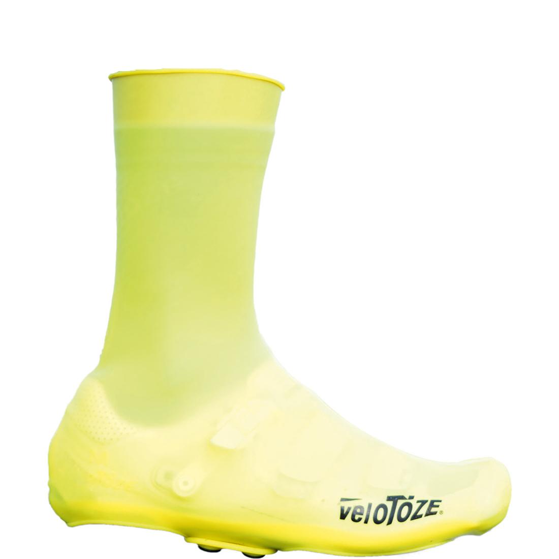 veloToze Silicone Snap Road Überschuh - Lang - viz-yellow