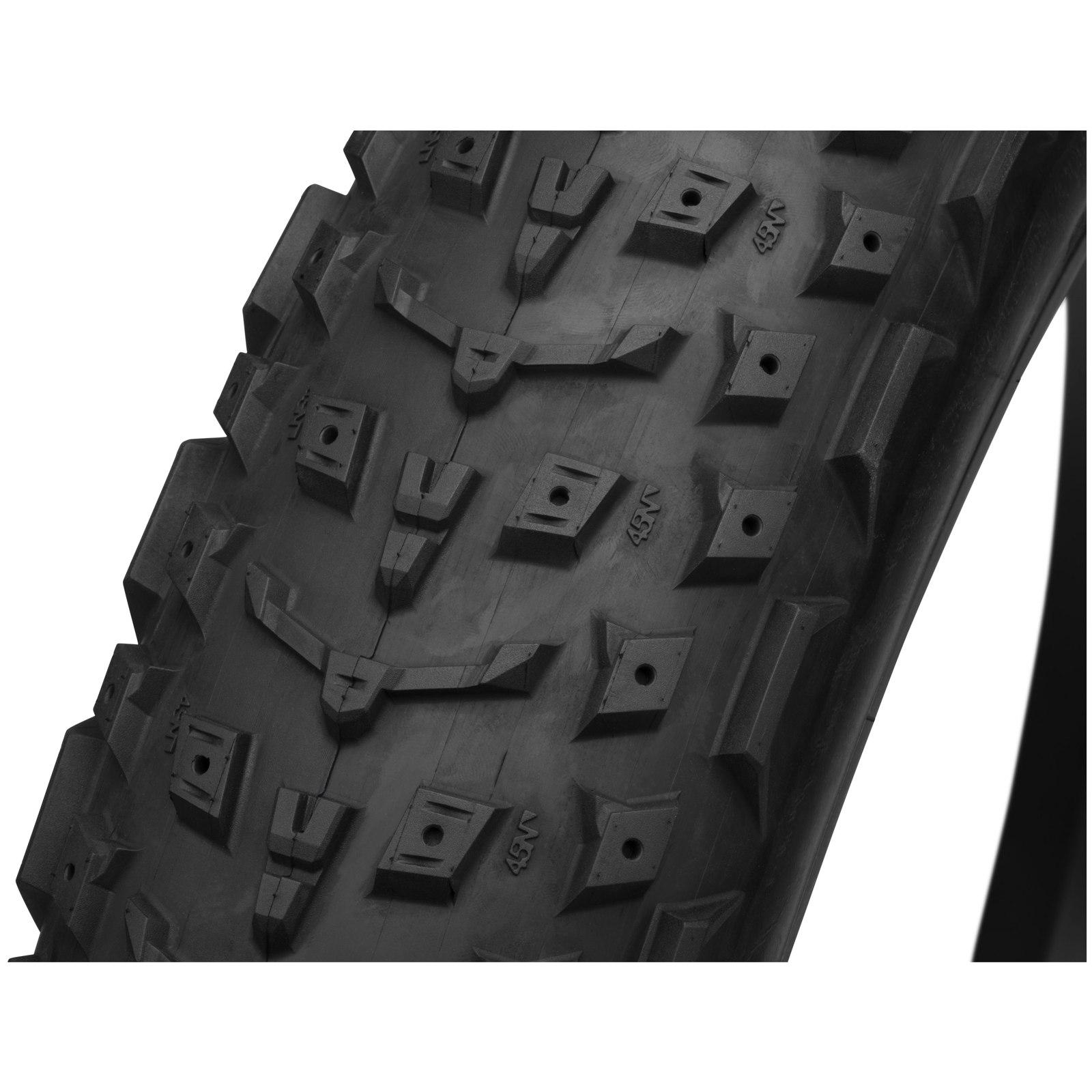 Imagen de 45NRTH Dillinger 4 Fatbike Folding Tire - Spike Ready - Tubeless Ready - 27.5x4.0 Inches - 120TPI Ultralight