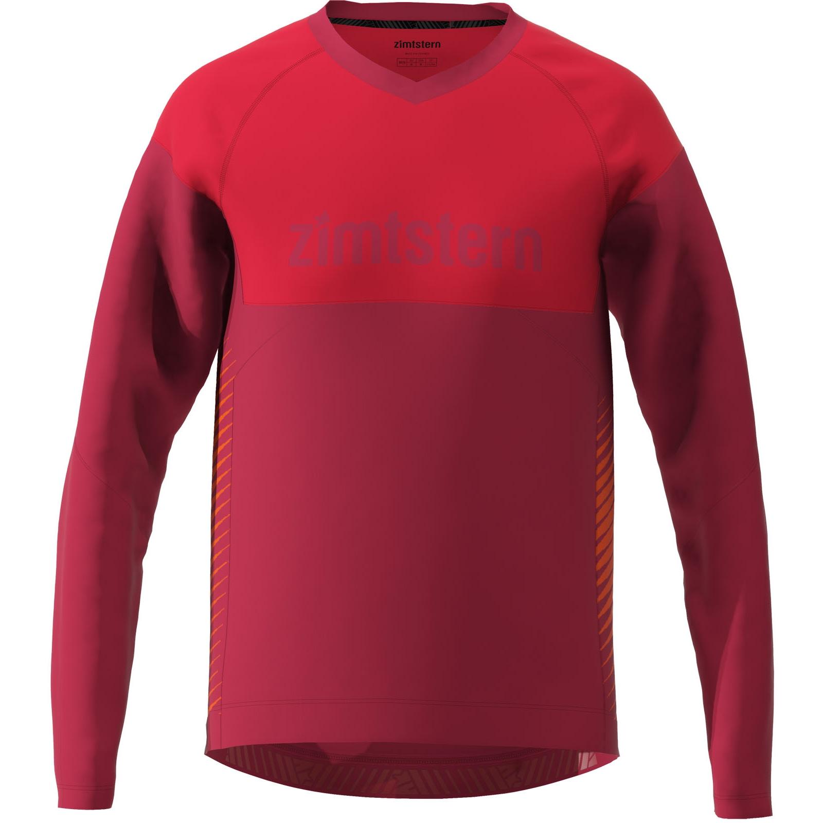 Zimtstern Bulletz Langarm-Shirt - jester red/cyber red/tomato