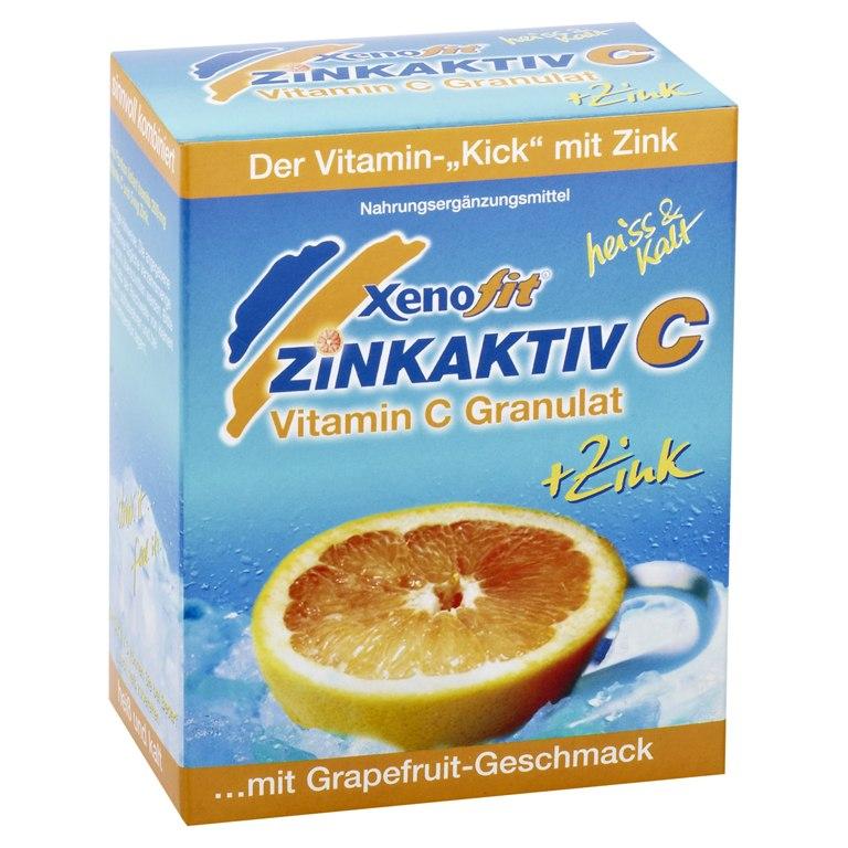 Xenofit Zinkaktiv C - Vitamin C + Zink Getränke-Granulat - 10x9g