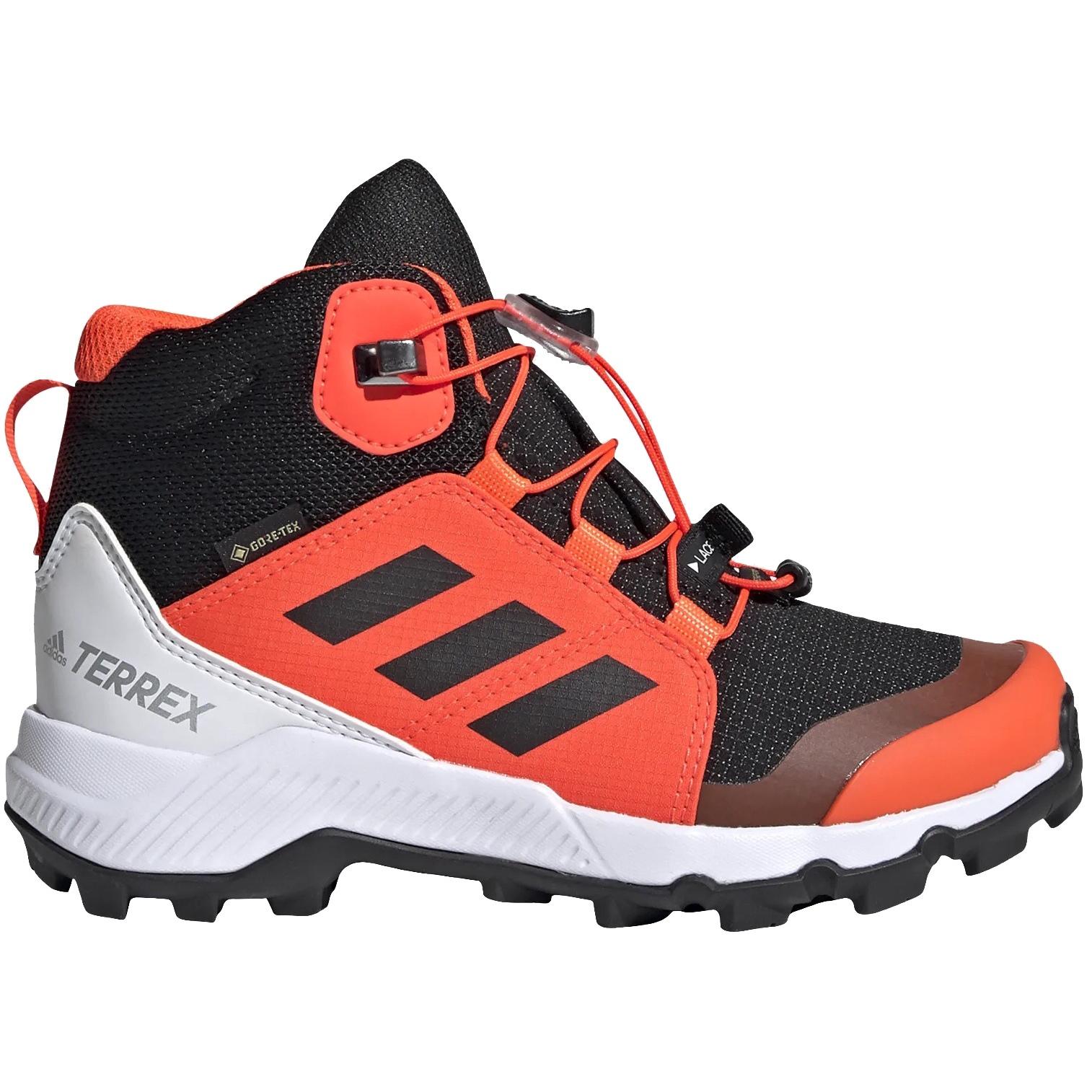 adidas Kinder TERREX Mid GORE-TEX Wanderschuhe - core black/core black/solar red FW9757