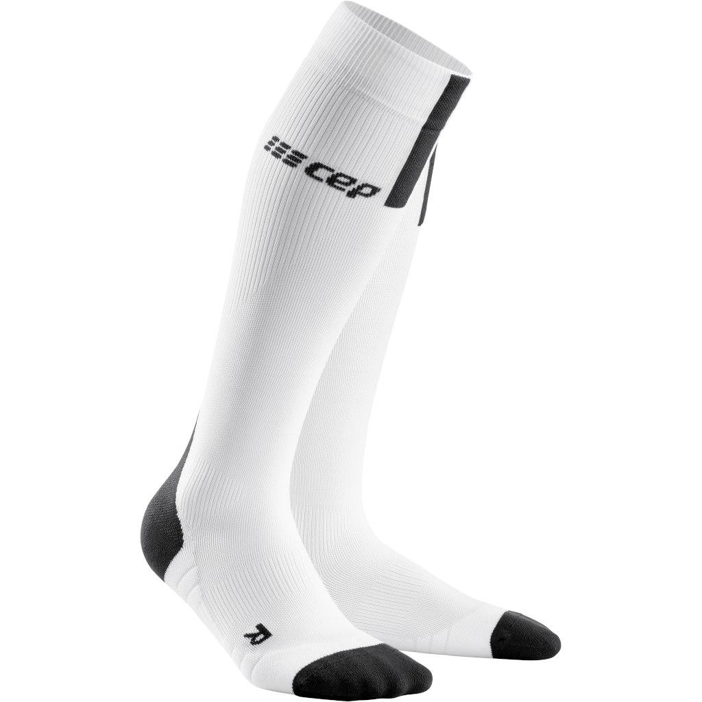 CEP Run Compression Socks 3.0 - white/dark grey