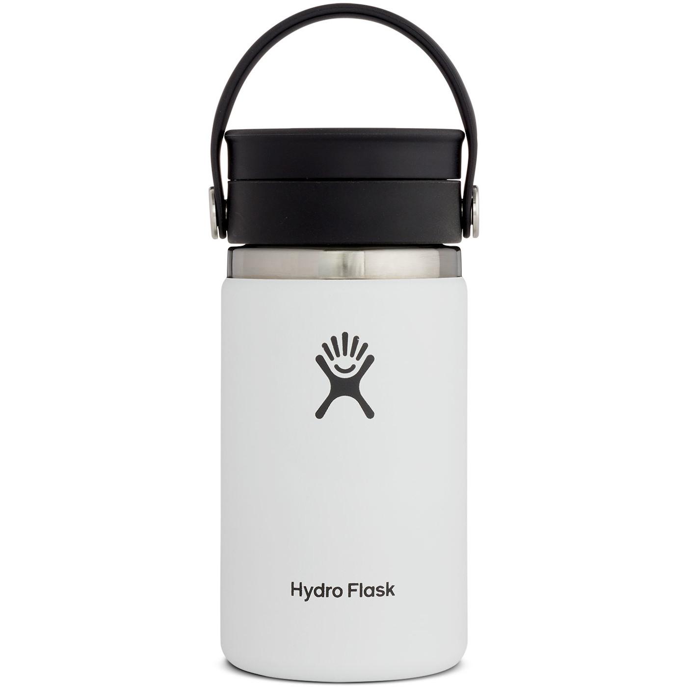 Hydro Flask 12 oz Wide Mouth Coffee Kaffeebecher mit Flex Sip Deckel - 354 ml - White
