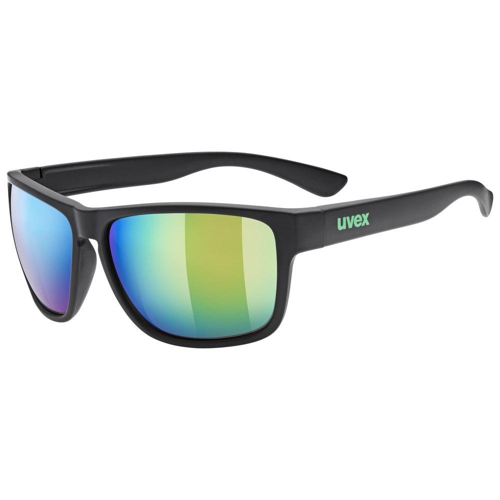 Uvex lgl 36 CV Glasses - black mat/daily green mirror