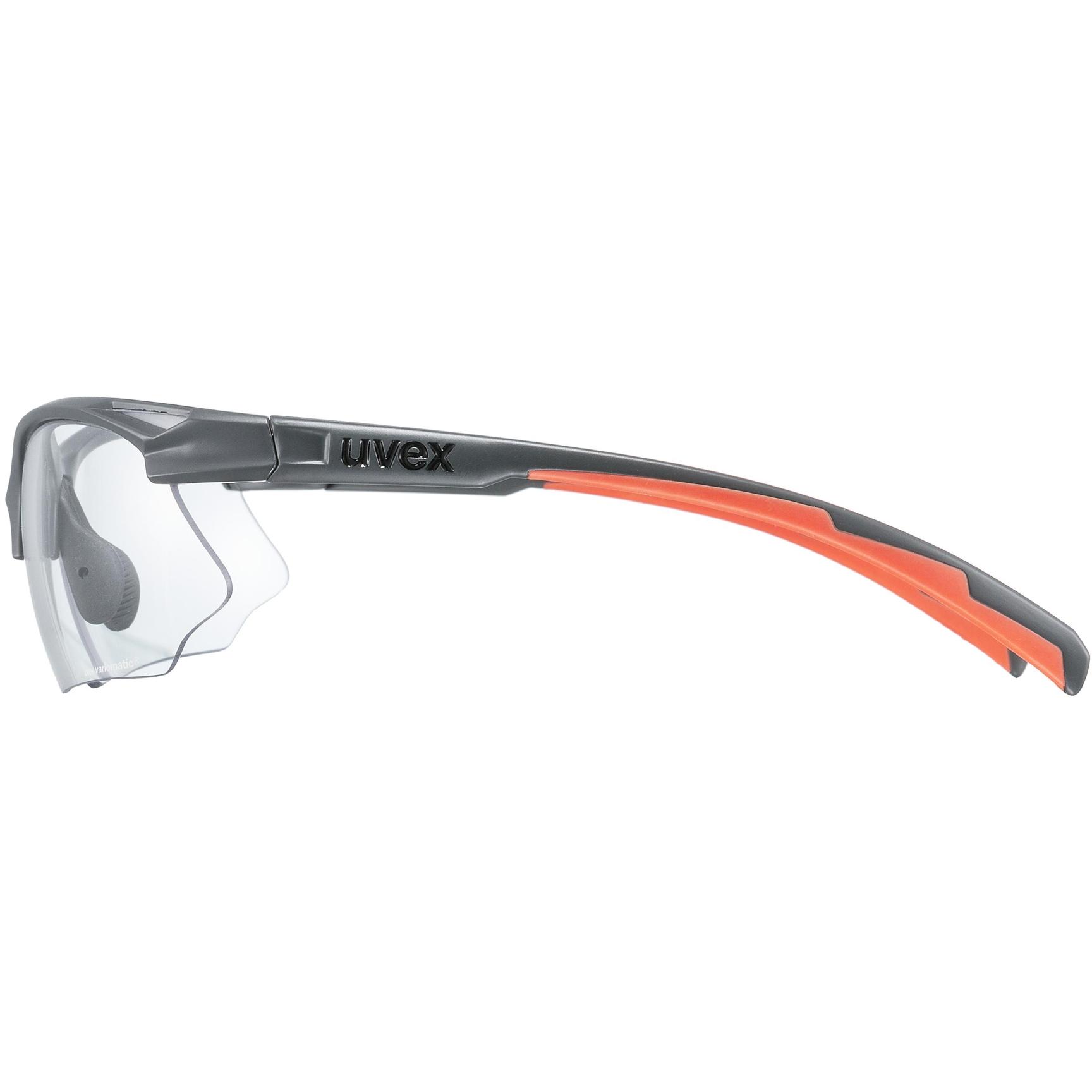 Image of Uvex sportstyle 802 V Glasses - grey mat/variomatic smoke