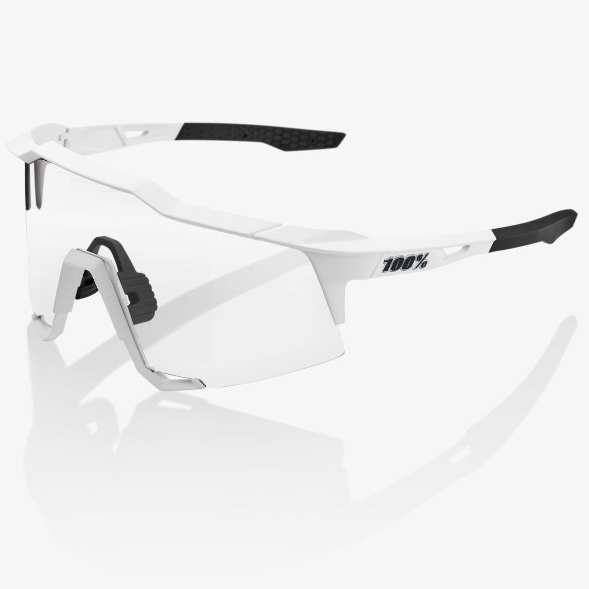 Imagen de 100% Speedcraft - Tall - HiPER Mirror Gafas - Soft Tact Off White/Red Multilayer + Clear
