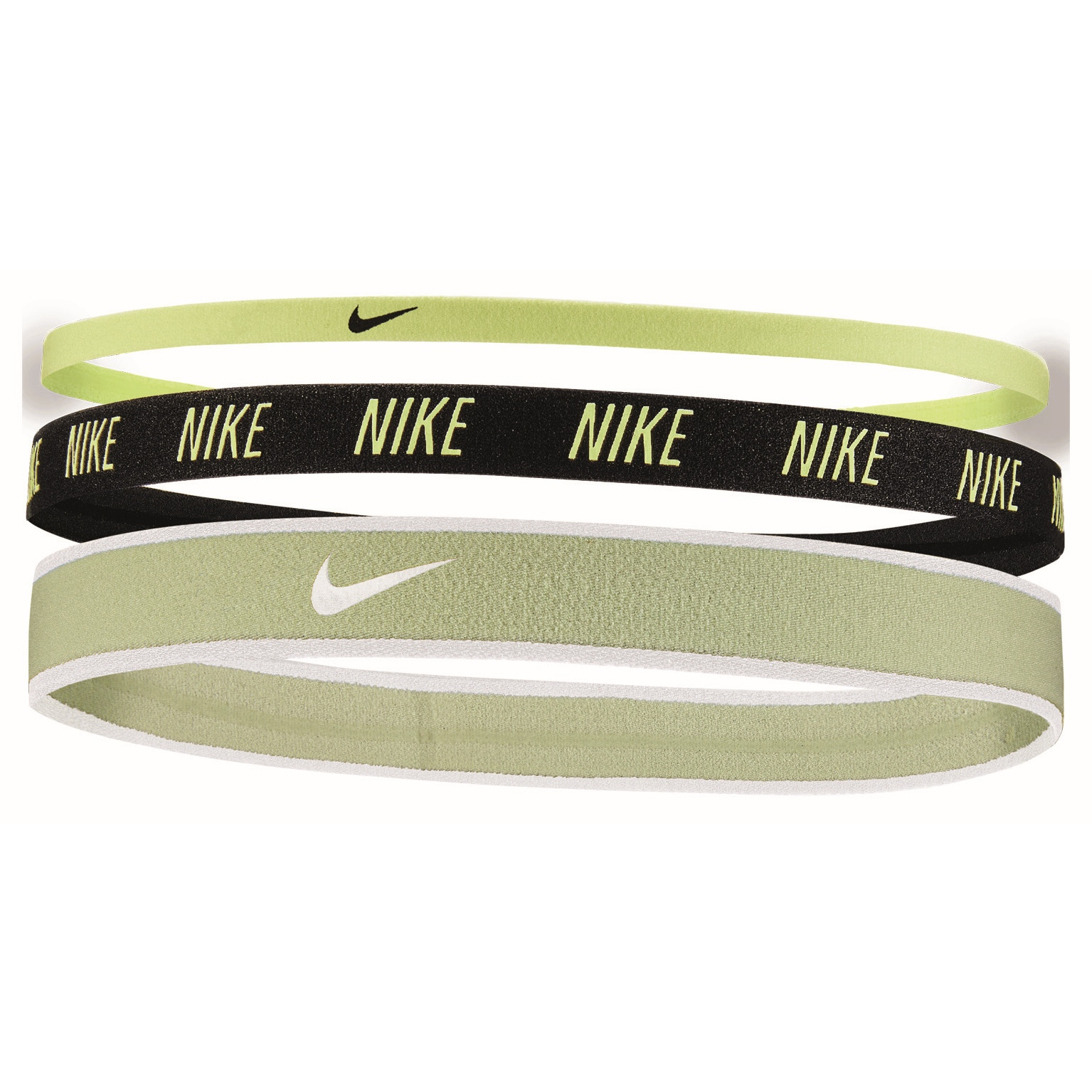 Nike Mixed Width Cinta del pelo - 3 Pares - lime ice/black/lime ice 384
