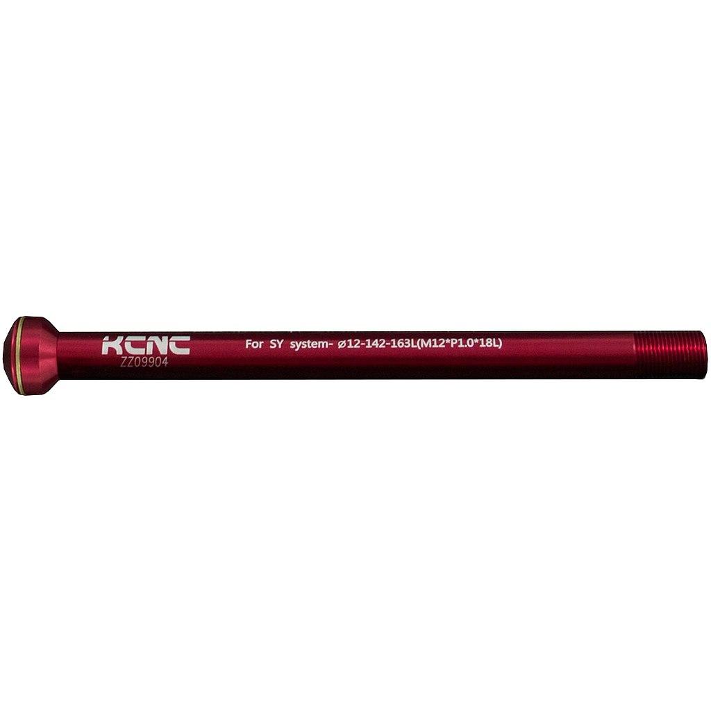 KCNC Thru Axle KQR08 - 12x142mm - 6061AL - red