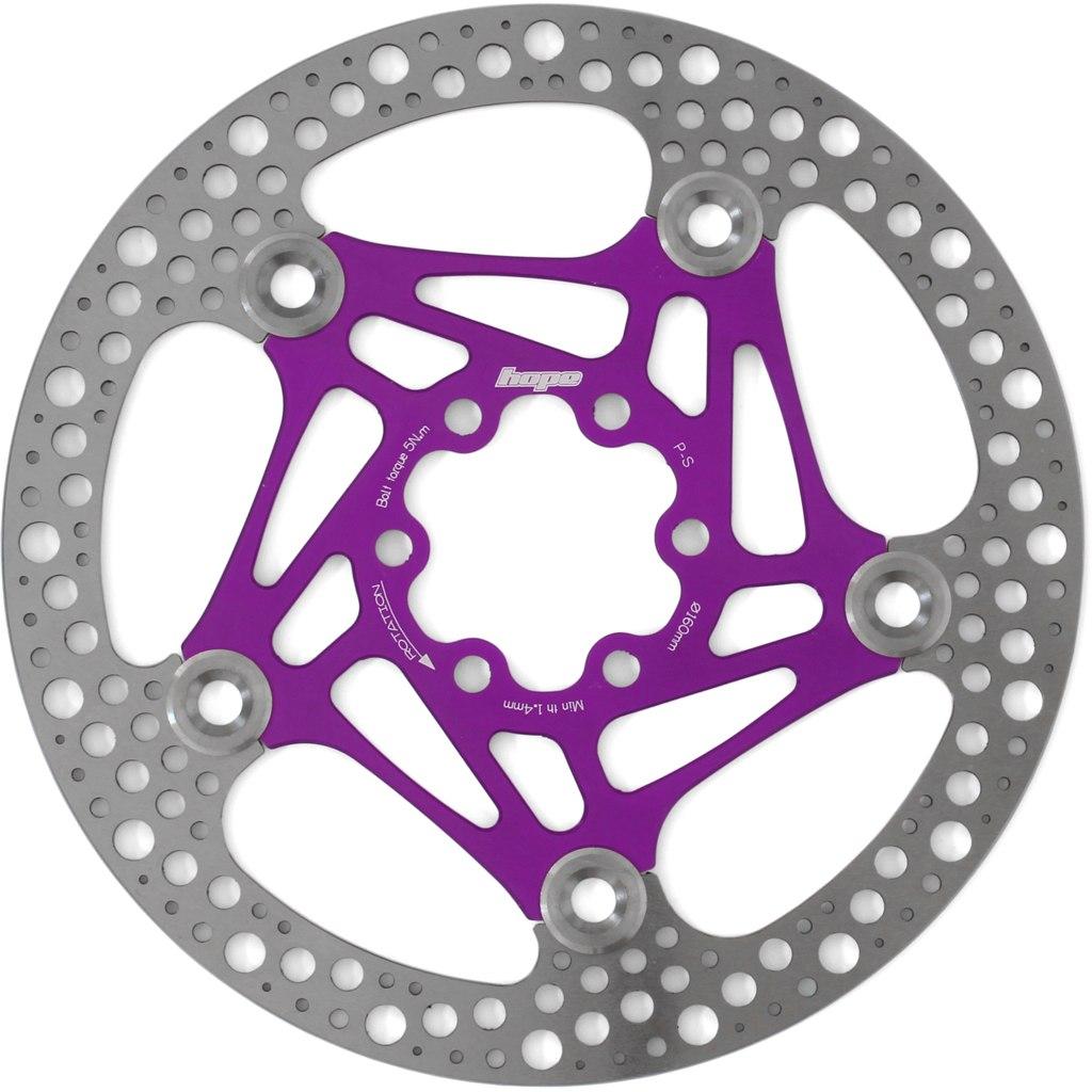 Hope Road Rotor - 160 mm - purple