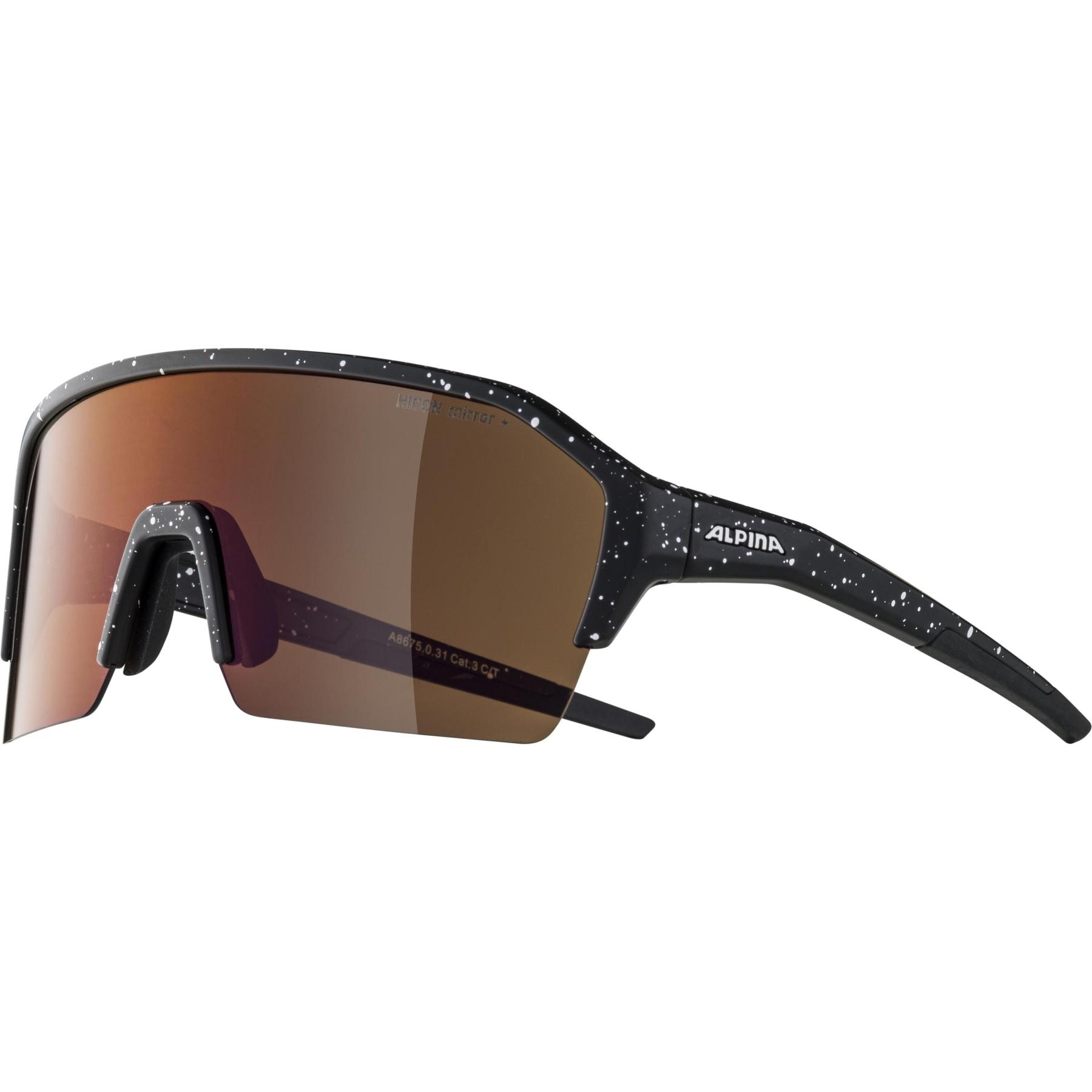 Image of Alpina Ram HR HM+ Glasses - black blur matt / Hicon red mirror