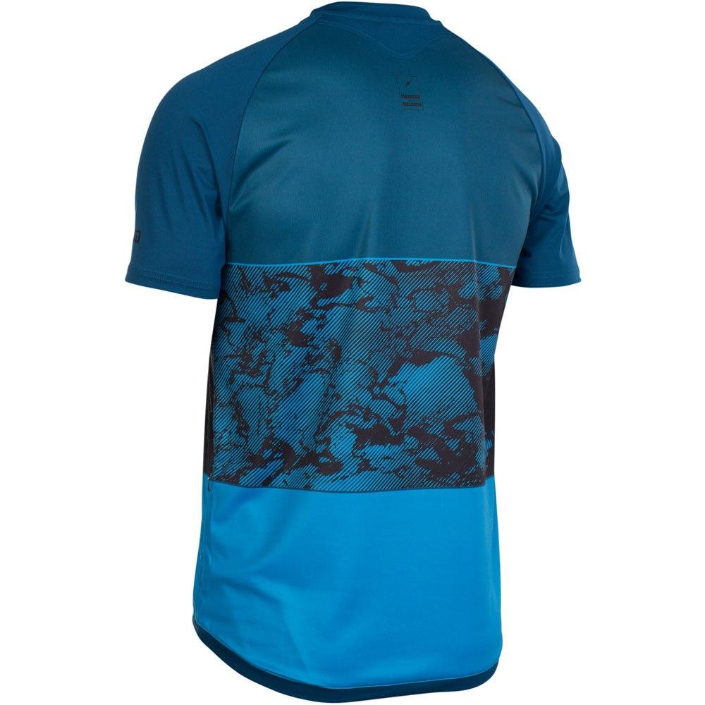Image of ION Bike Tee Half Zip Short Sleeve Traze Amp Jersey - ocean blue
