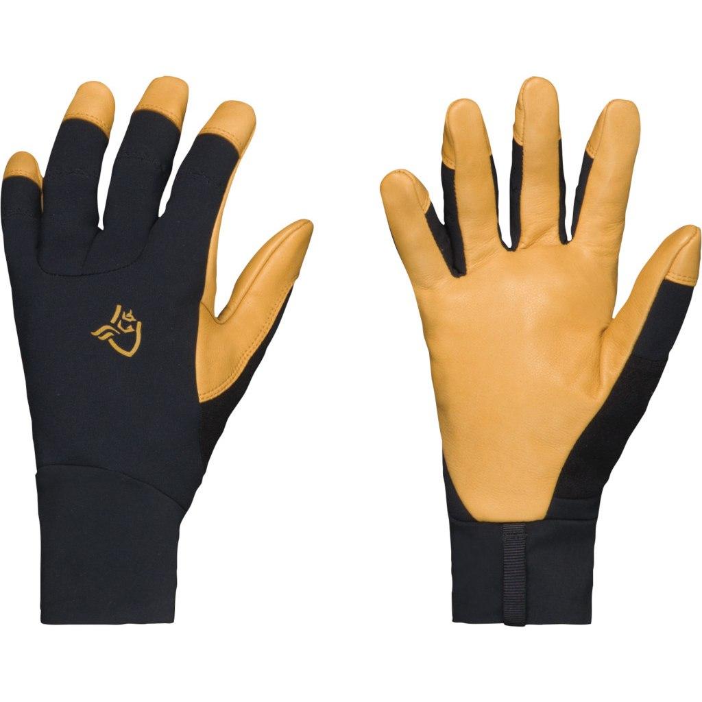 Picture of Norrona lyngen Windstopper Leather Gloves - Caviar