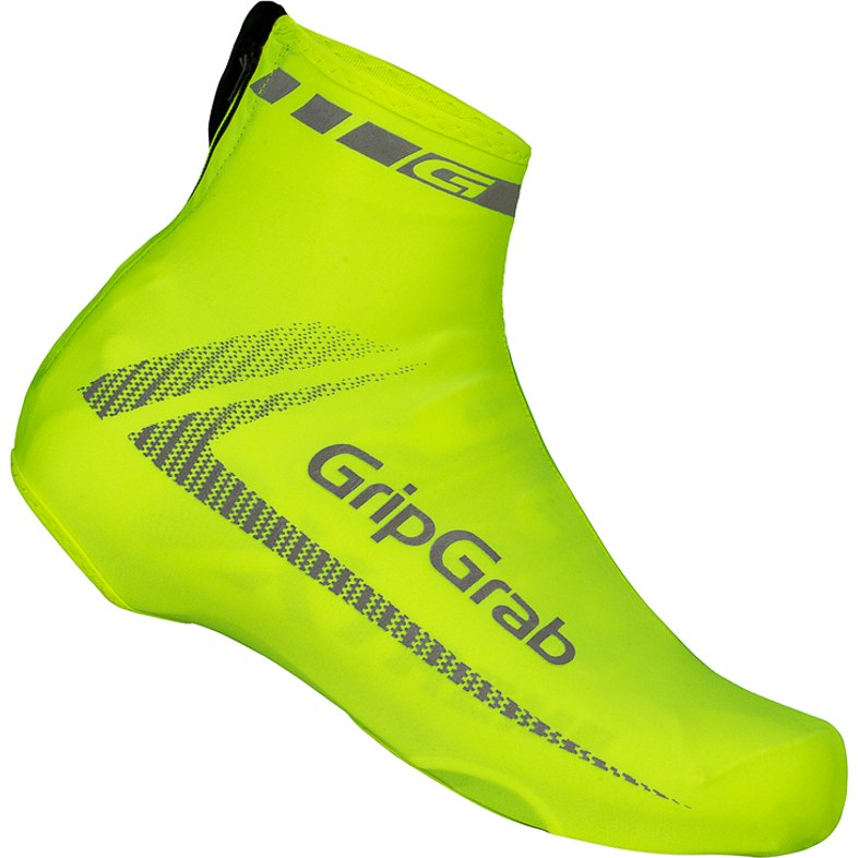 GripGrab RaceAero Hi-Vis Lightweight Lycra Shoe Cover - Yellow Hi-Vis