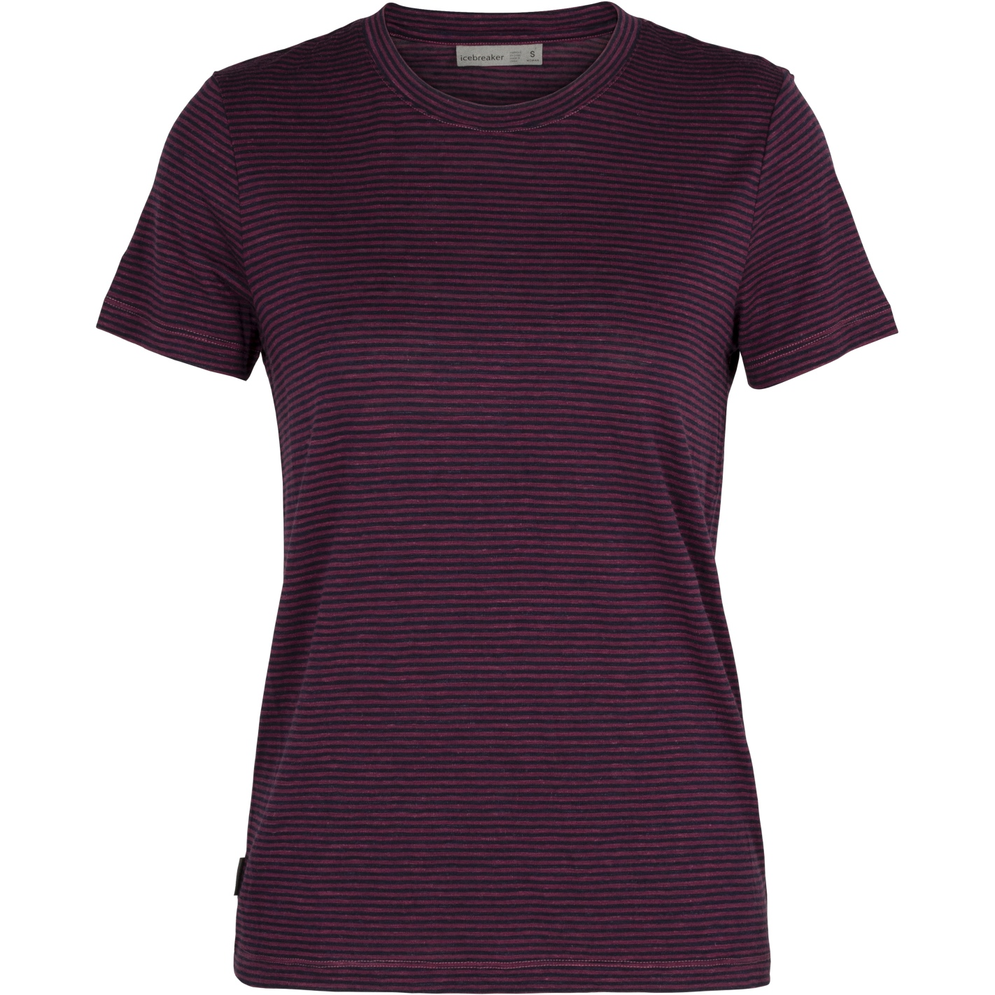 Bild von Icebreaker Dowlas Crewe Stripe Damen T-Shirt - Brazilwood