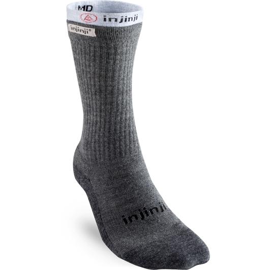 Produktbild von Injinji Damen Liner Coolmax® & Hiker NüWool™ Crew Socken - charcoal + gray