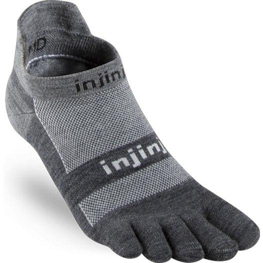 Produktbild von Injinji Run Lightweight No-Show NuWool Socken - charcoal