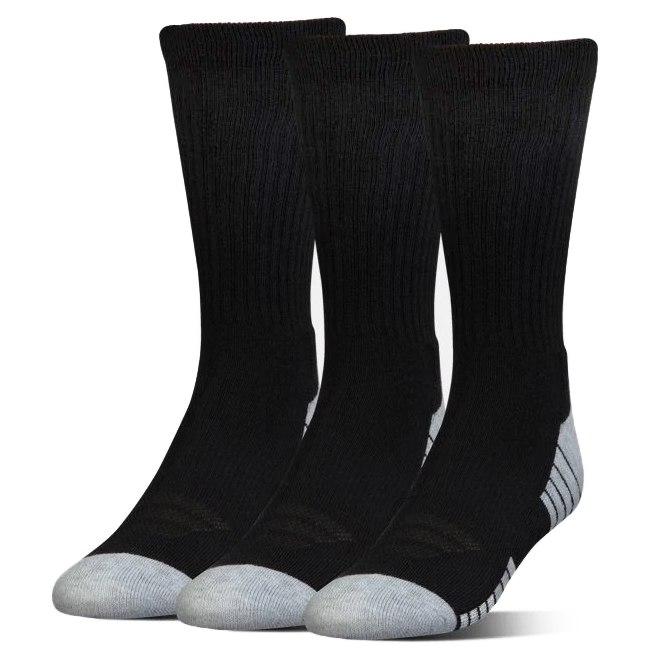 Foto de Under Armour HeatGear Crew Socks – 3-Pack - Black / Black / Steel