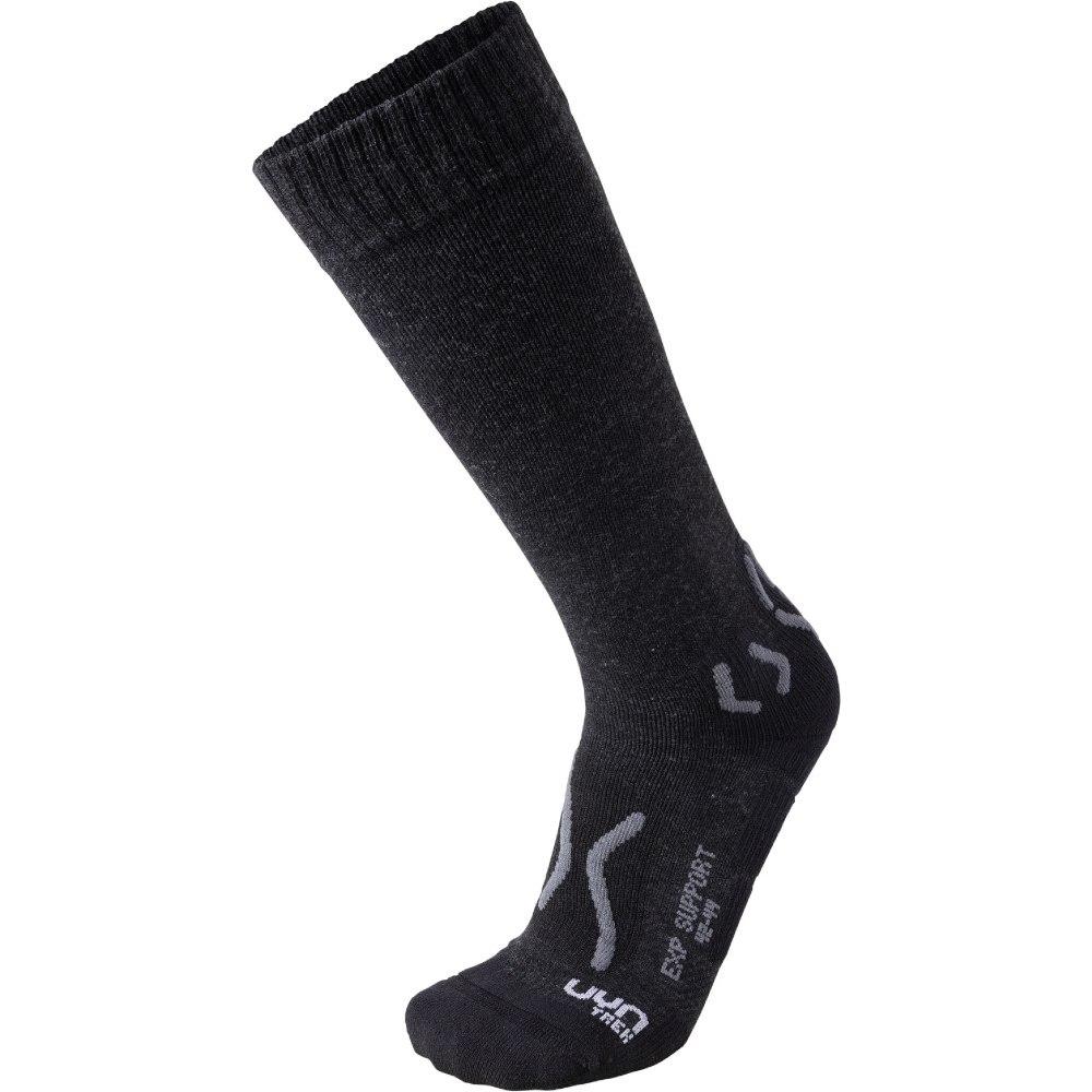 UYN Man Trekking Explorer Support Socken - Black Melange/Anthracite