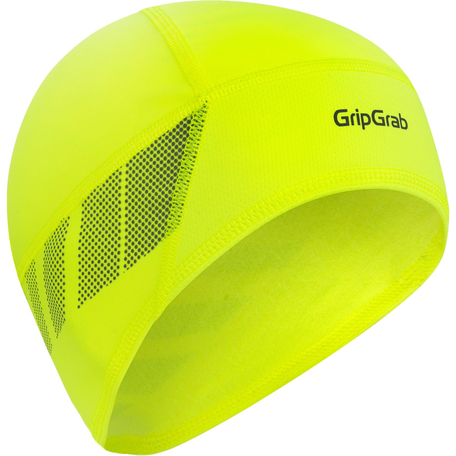 GripGrab Windproof Thermal Lightweight Hi-Vis Skull Cap - Yellow Hi-Vis