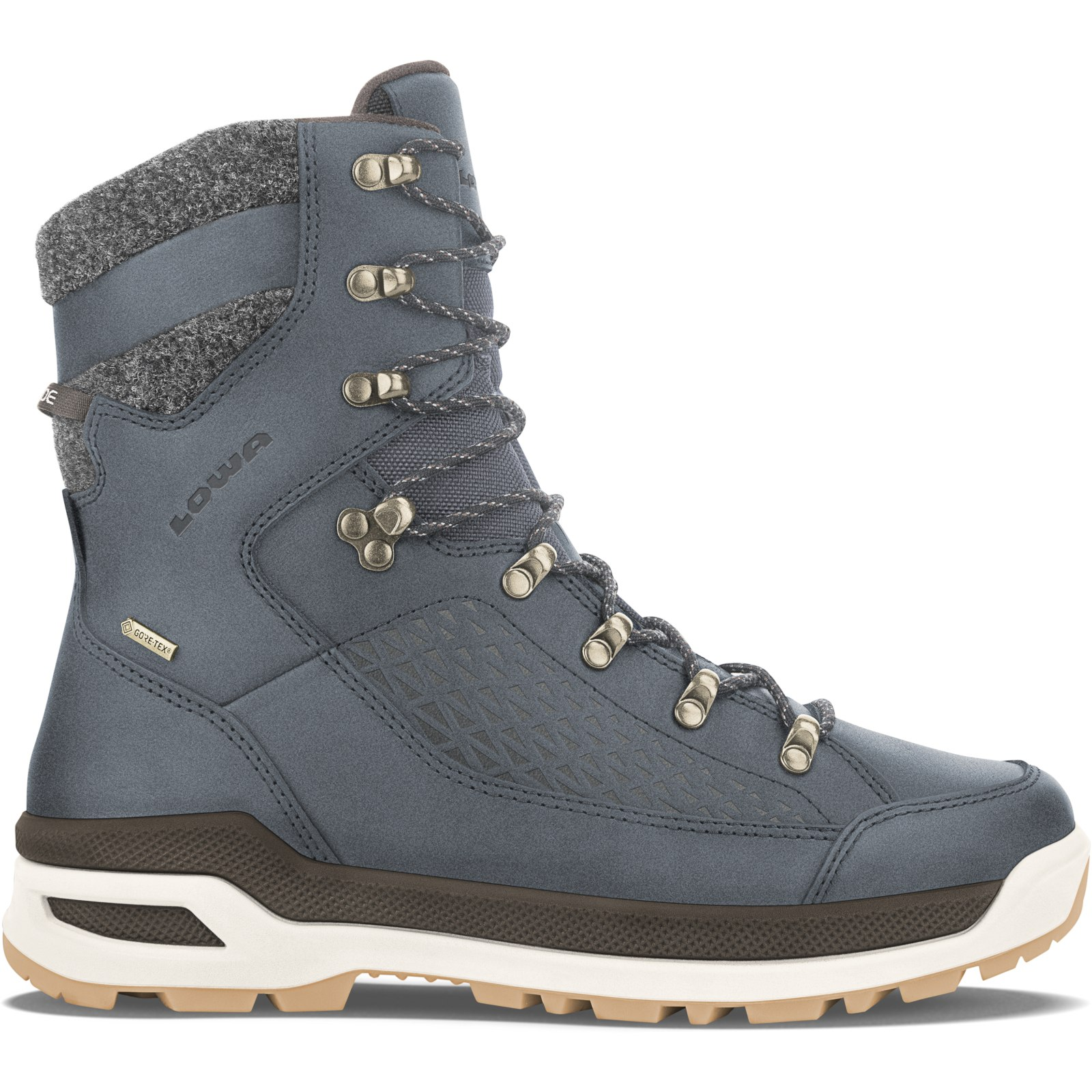 LOWA Renegade EVO Ice GTX Winter Shoe - navy/honey