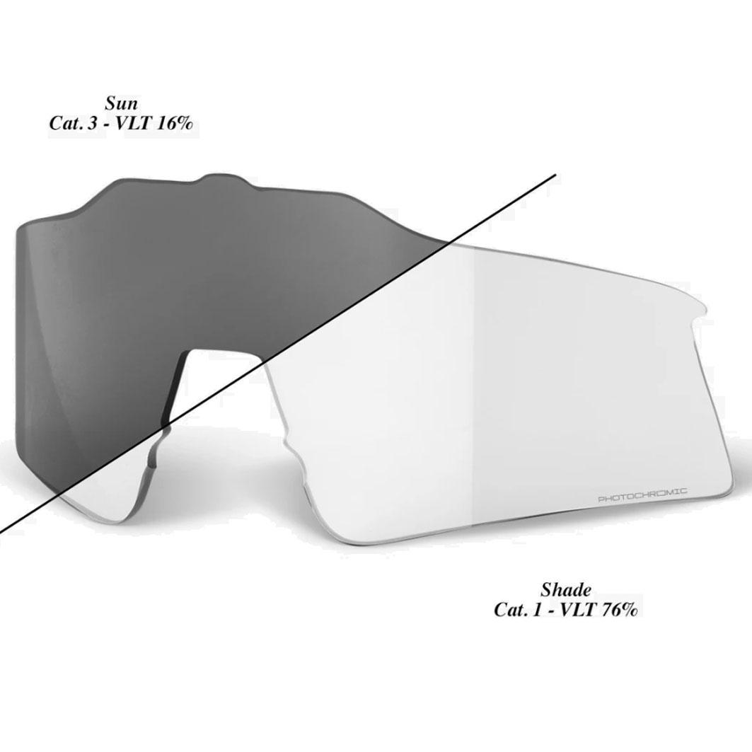100% Speedcraft XS Photochromic Lente de repuesto - Photochromic - Clear Smoke