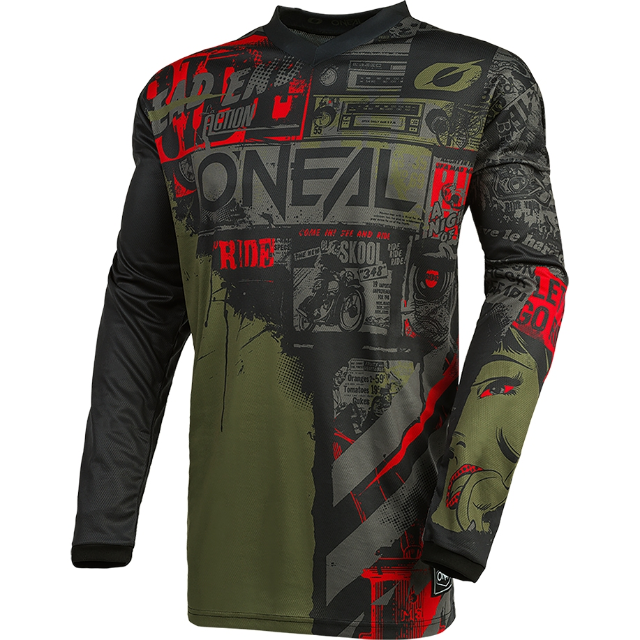O'Neal Element Jersey - RIDE black/green