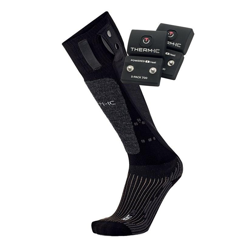 therm-ic PowerSock Set Heat Uni + S-Pack 700 V2 Beheizbare Socken
