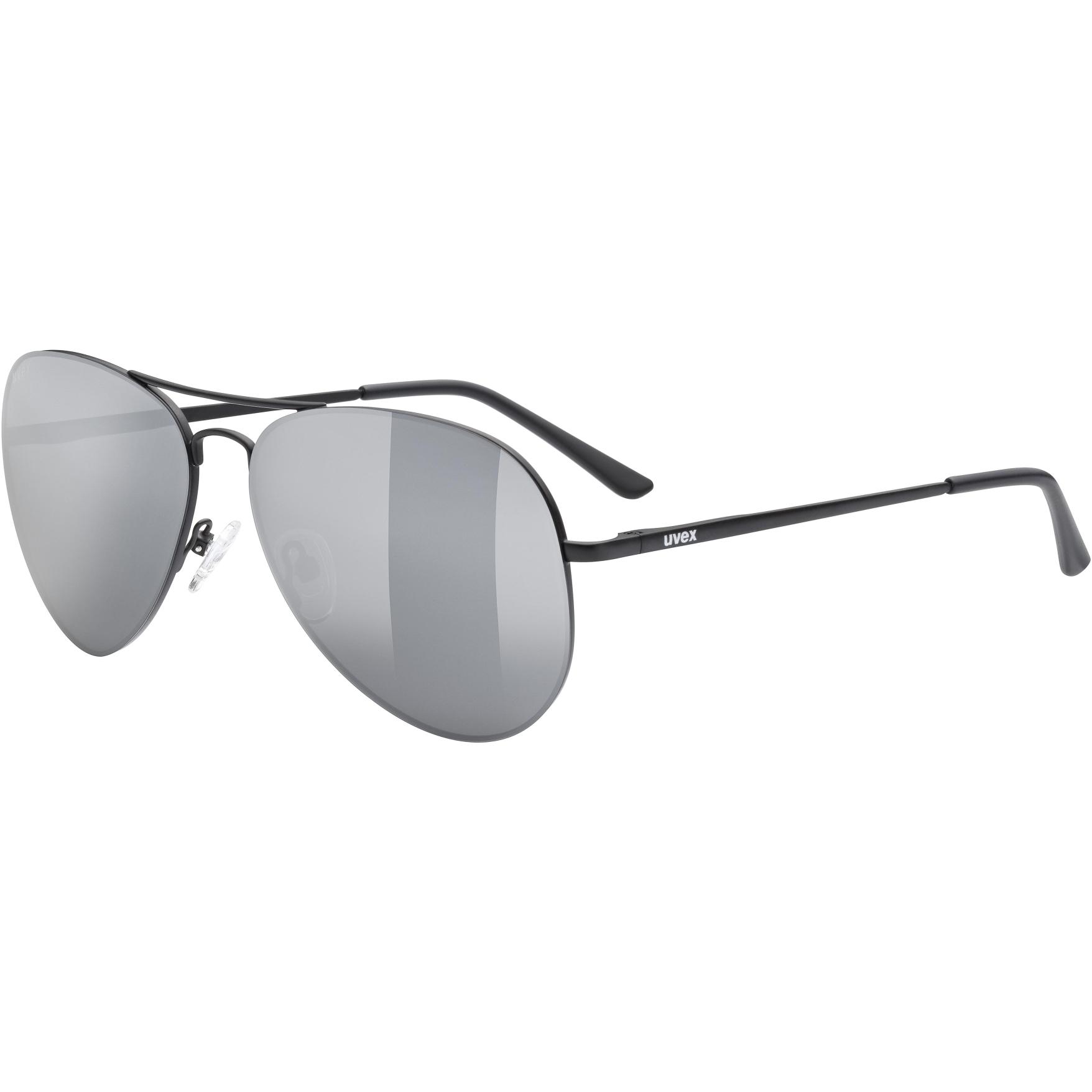 Image of Uvex lgl 45 Glasses - black mat/mirror silver