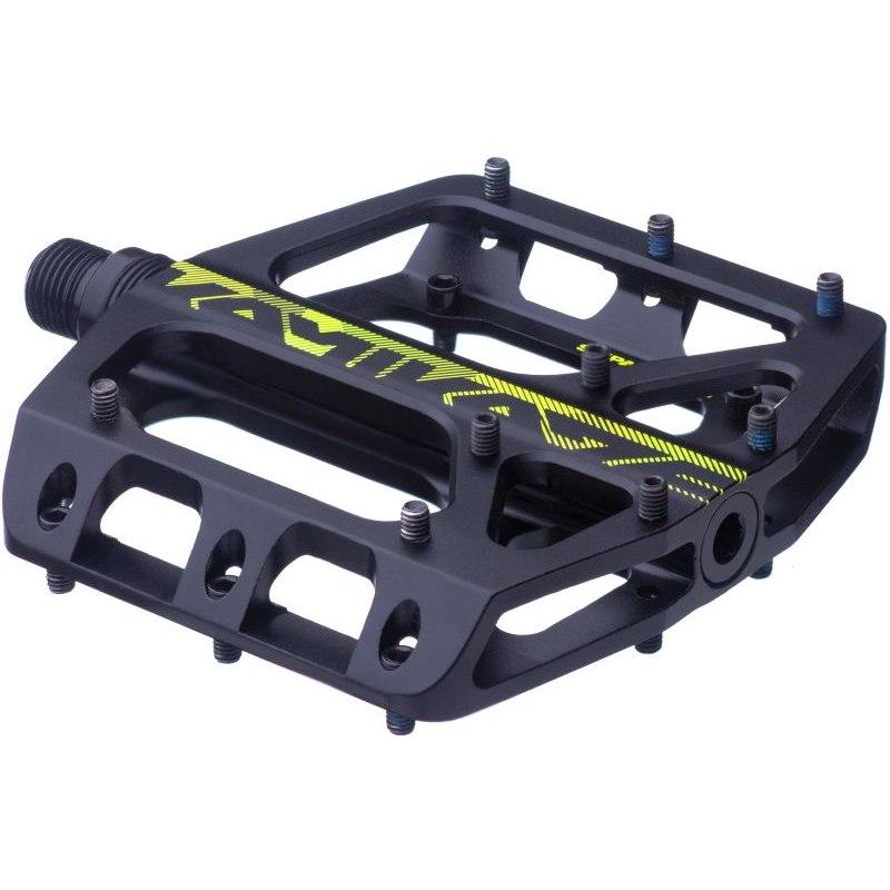 Sixpack Kamikaze 3.0 Aluminium Flat Pedal - black / neon yellow
