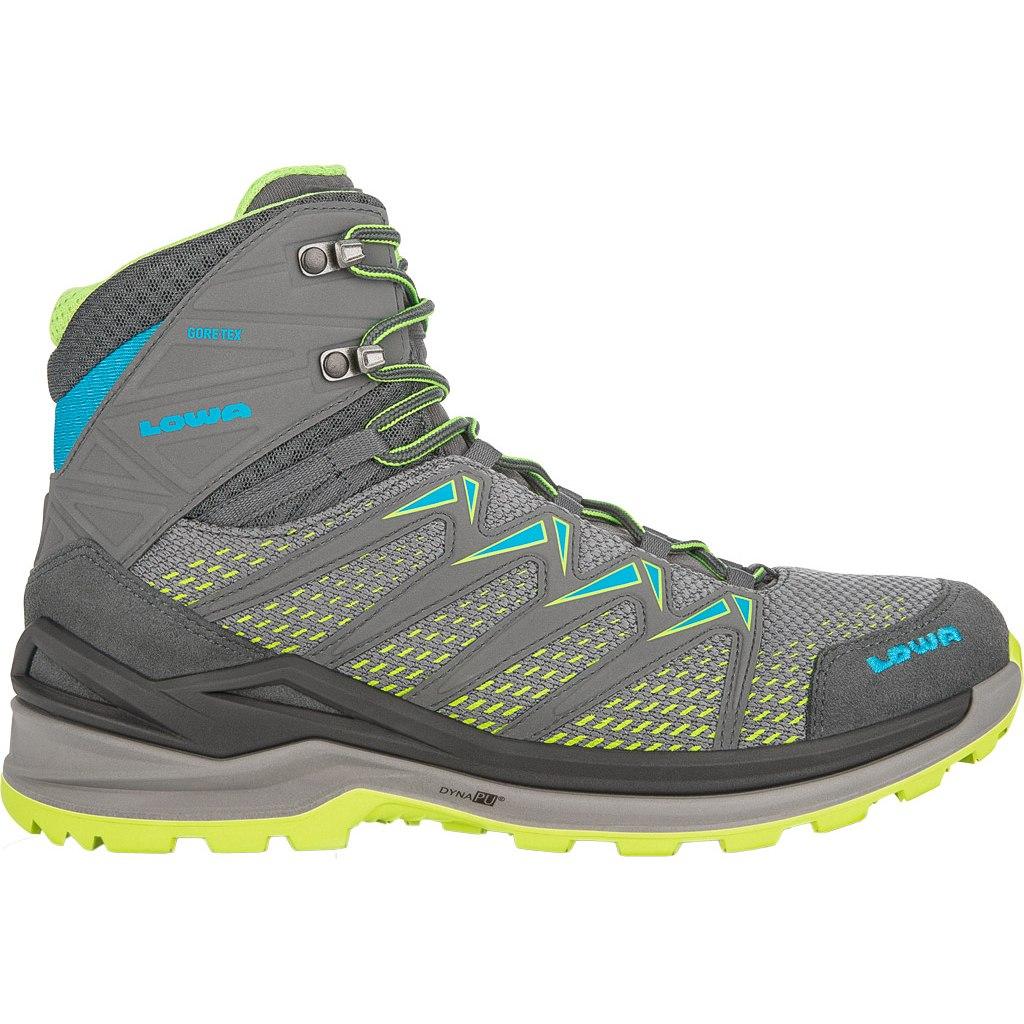 LOWA Innox Pro GTX Mid Shoe - graphite/lime