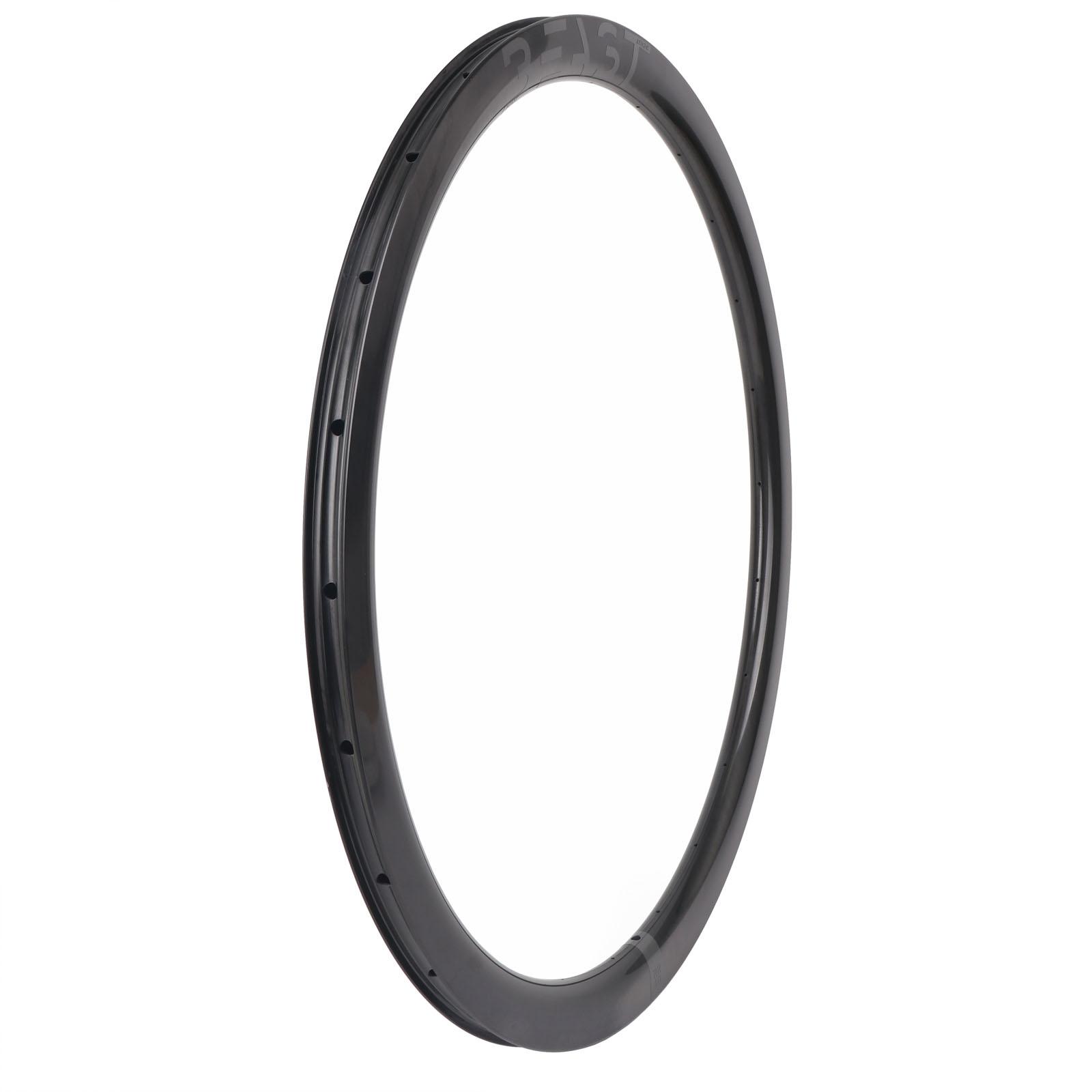 Image of Beast Components RR40 Carbon Disc Clincher Rim - 20-622 - 24 Hole - UD black