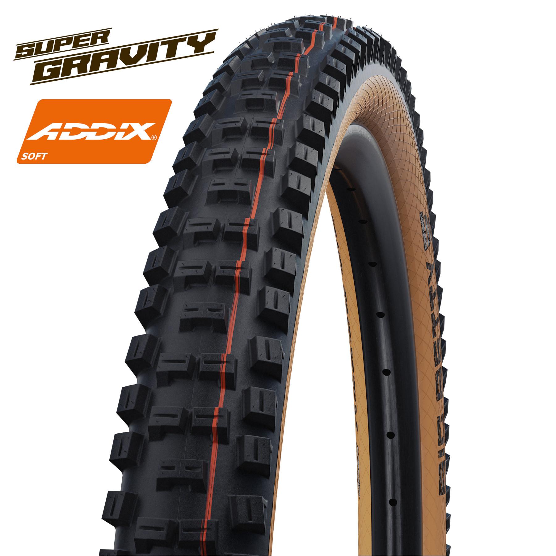 Picture of Schwalbe Big Betty Evolution MTB Folding Tire - AddixSoft - SuperGravity - TLEasy - E-50 - 29x2.4 Inches - Classic-Skin