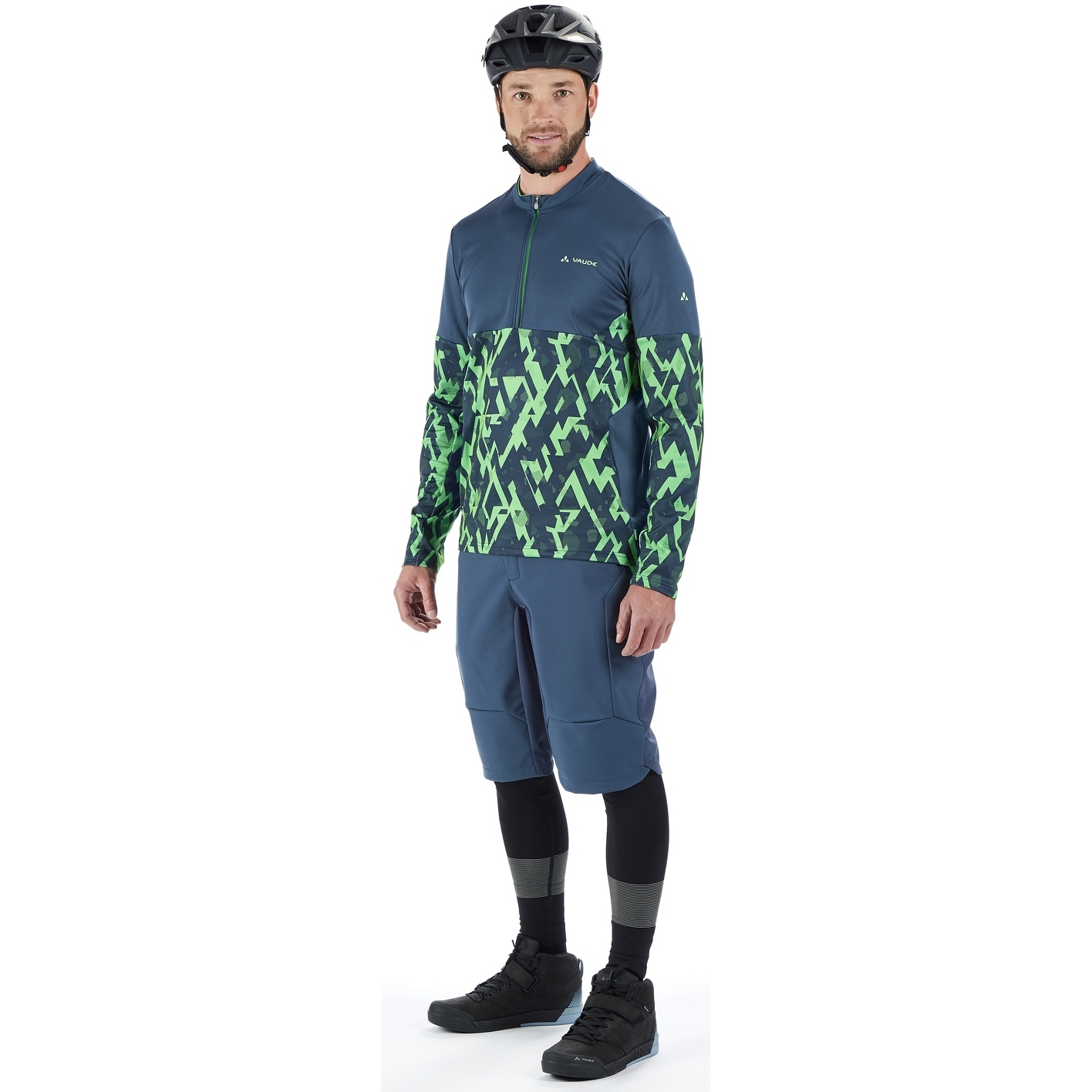 Image of Vaude Men's Virt QZip LS T-Shirt - dusty forest