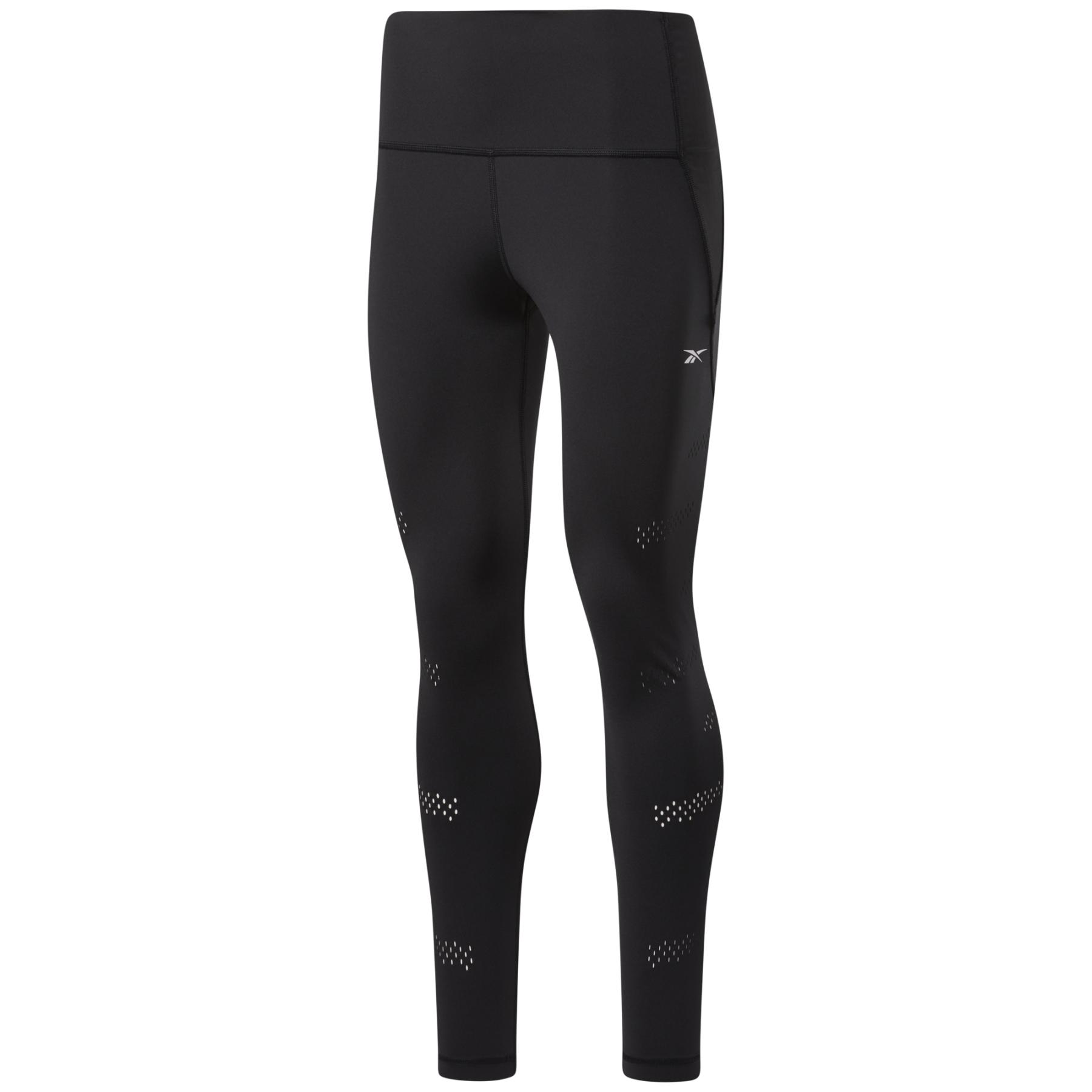 Reebok High-Rise Lux Perform Perforated Damen-Leggings - black GL2621