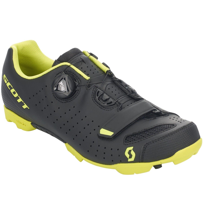 SCOTT MTB Comp Boa Schuh - matt black/sulphur yellow