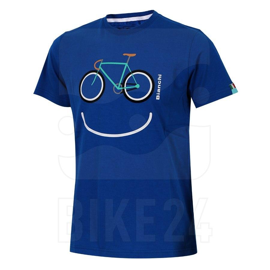 Image of Bianchi Smile T-Shirt - blue