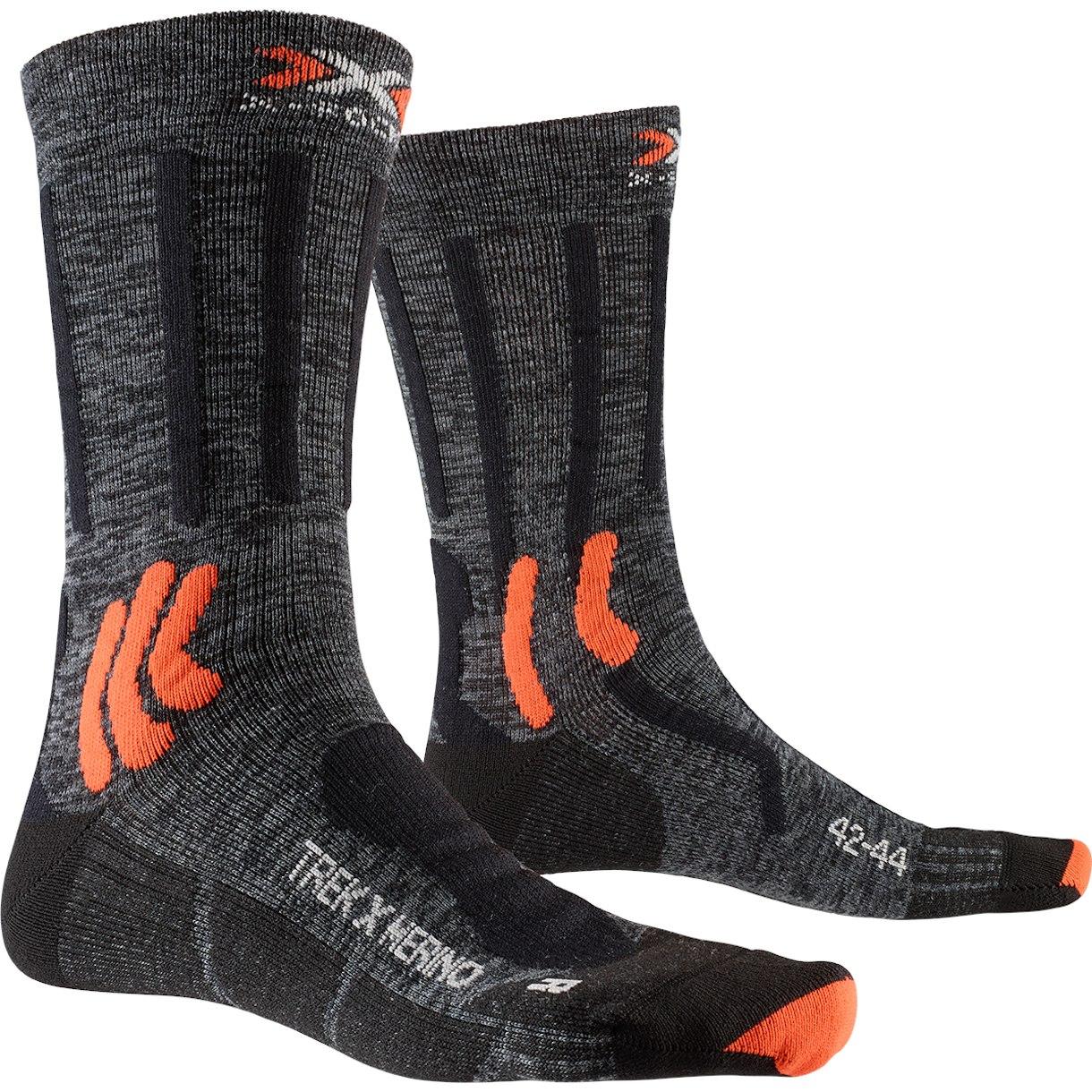 Bild von X-Socks Trek X Merino Socken - grey duo melange/x-orange/black
