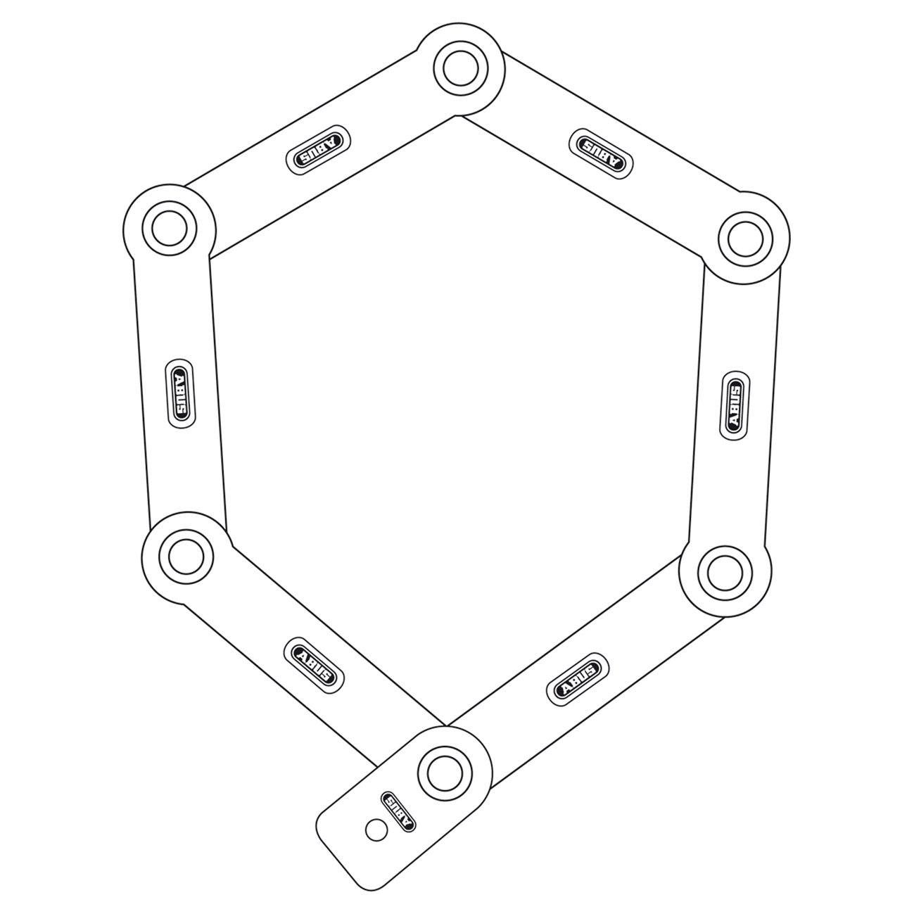 Imagen de ABUS Bordo 6000/90 Folding Lock + ST bracket - Black